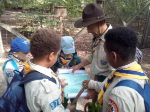 Teamtreffen im Wald